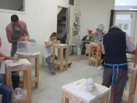 25 oktober 2020 workshop portret boetseren Atelier Monique Sleegers Utrecht