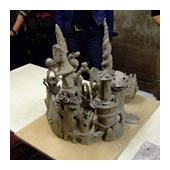 Toren van Babel boetseren
