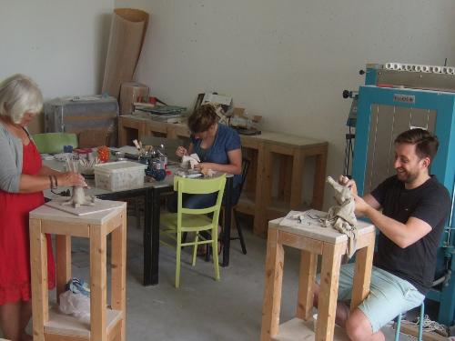 cursus boetseren atelier Monique Sleegers Utrecht