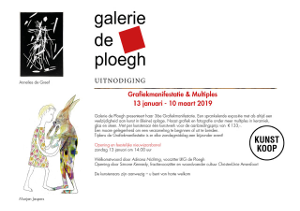 expositie galerie de Ploegh grafiek en multiples 2019 +